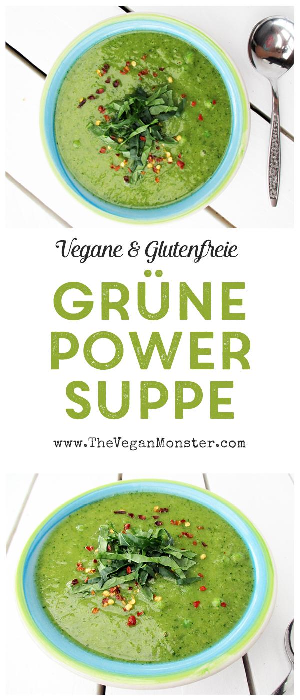 Vegane Glutenfreie Grüne Power Suppe