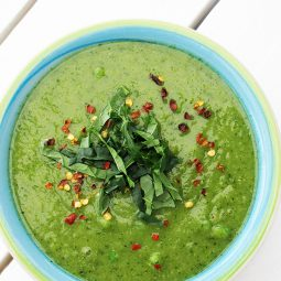 Green Power Soup (Vegan, Gluten-free, Low-Fat Option)