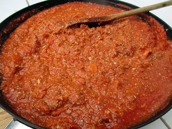 Vegan Gluten-free Soy-free Nut-free No-Meat Sunflower Seed Bolognese Pasta Sauce Recipe