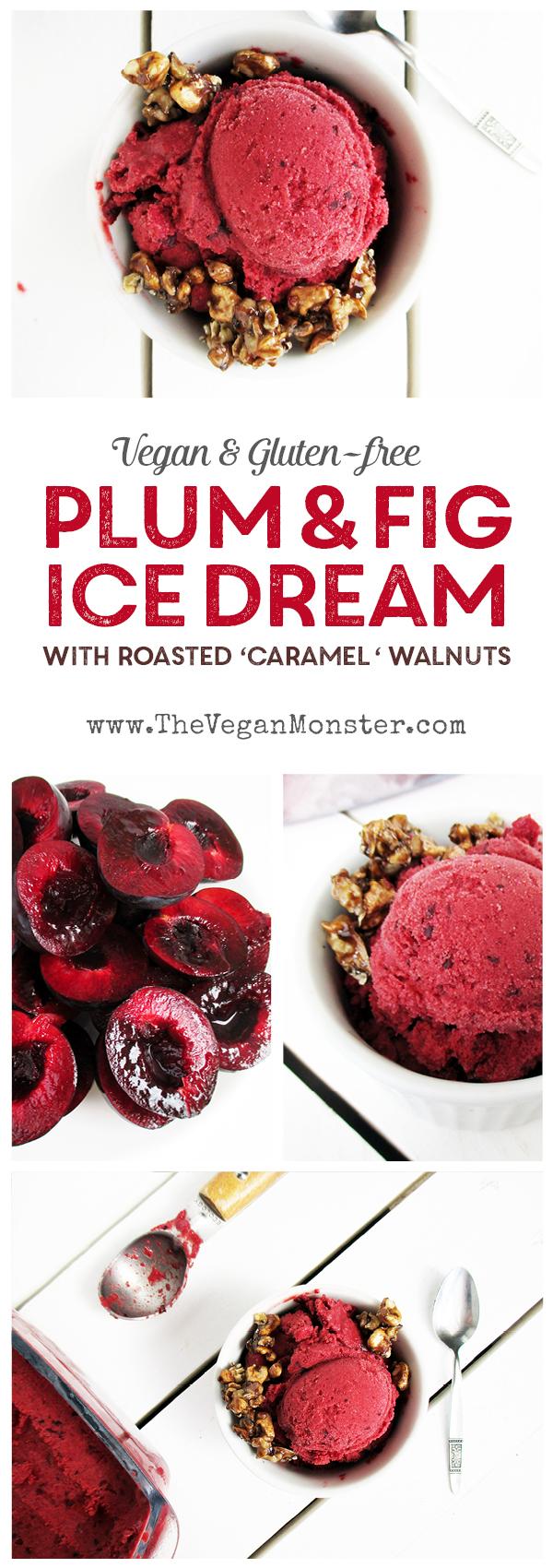 Plum Fig Ice Cream Vegan Gluten-free Refined Sugar Free Recipe