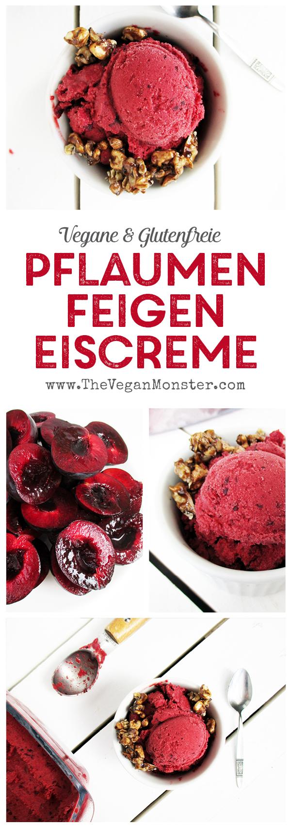 Pflaumen Feigen Eiscreme Vegan Glutenfrei Rezept