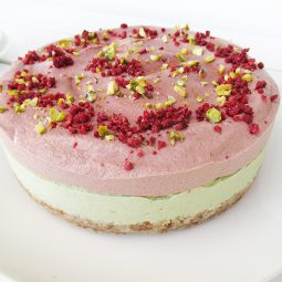 No-Bake Lime Strawberry Cake (Vegan, Gluten-free, No Refined Sugar)