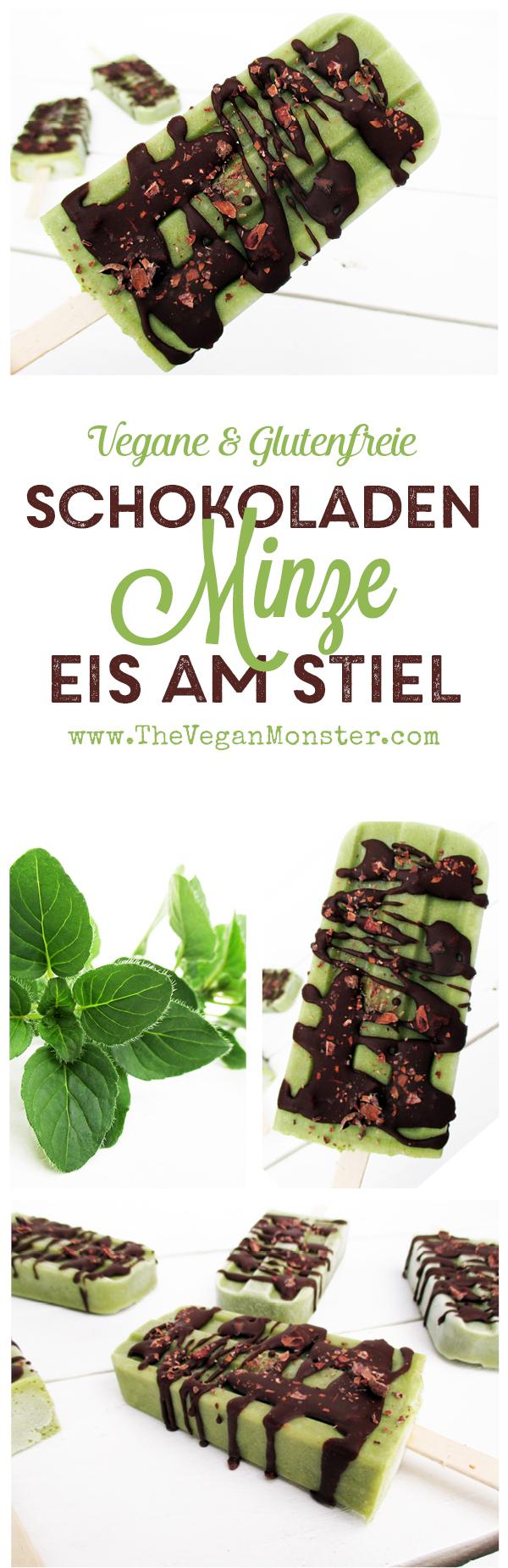 Vegane Glutenfreie Milchfreie Schokoladen Minze Eis am Stiel Rezept