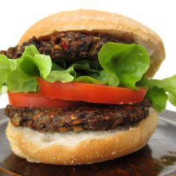 Mushroom Burger (Vegan, Gluten-free, Low-Fat, Oil-Free)