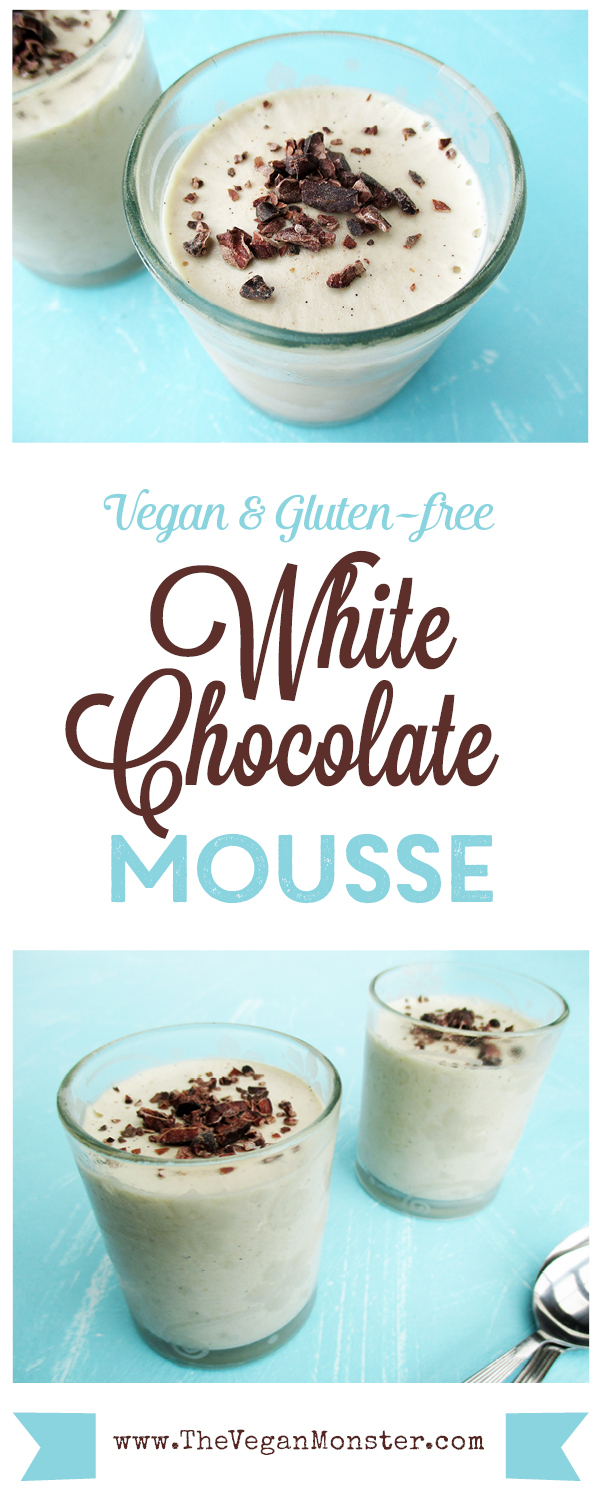 White Chocolate Mousse Vegan Gluten-free No Refined Sugar Dairy-free Recipe Rezept