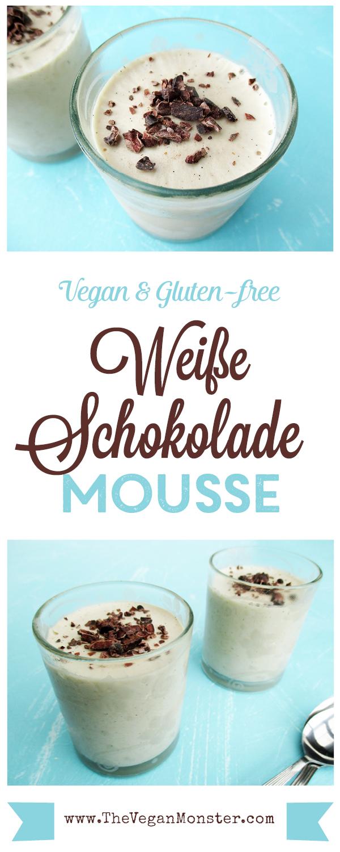 Weiße Schokolade Mousse rezept - Vegan Glutenfrei Ohne Kristallzucker Ohne Milch