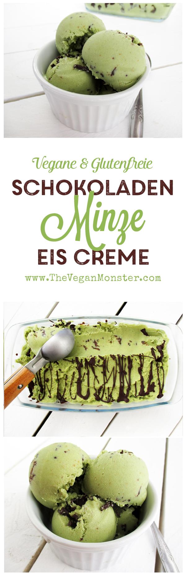 Vegane Glutenfreie Milchfreie Rohköstliche Pfefferminze Schokoladen Eiscreme Ohne Kristallzucker Rezept