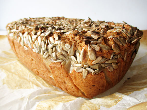 Veganes Glutenfreies Milchfreies Eifreies Sonnenblumenkern Brot Rezept Ohne Oel
