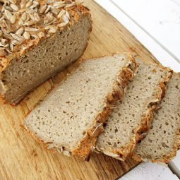 Sunflower Seed Bread (Vegan, Gluten-free, No Added Oil)