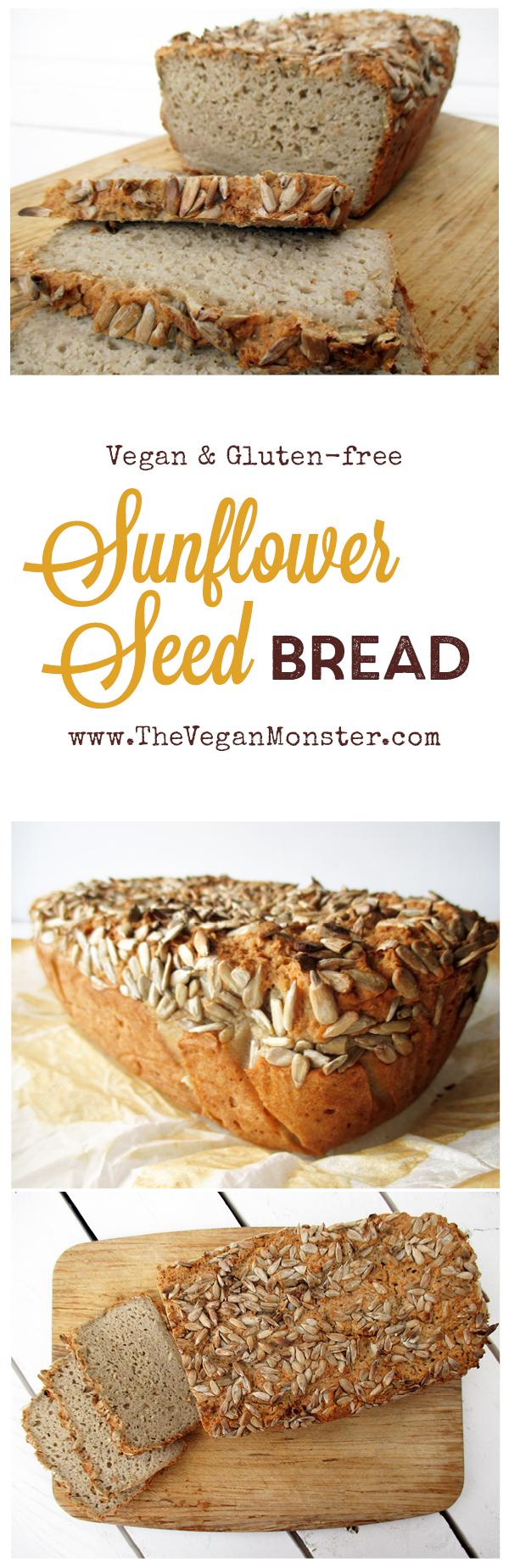 Vegan Gluten-free Dairy-free Egg-free Oil-free Sunflower Seed Bread Recipe