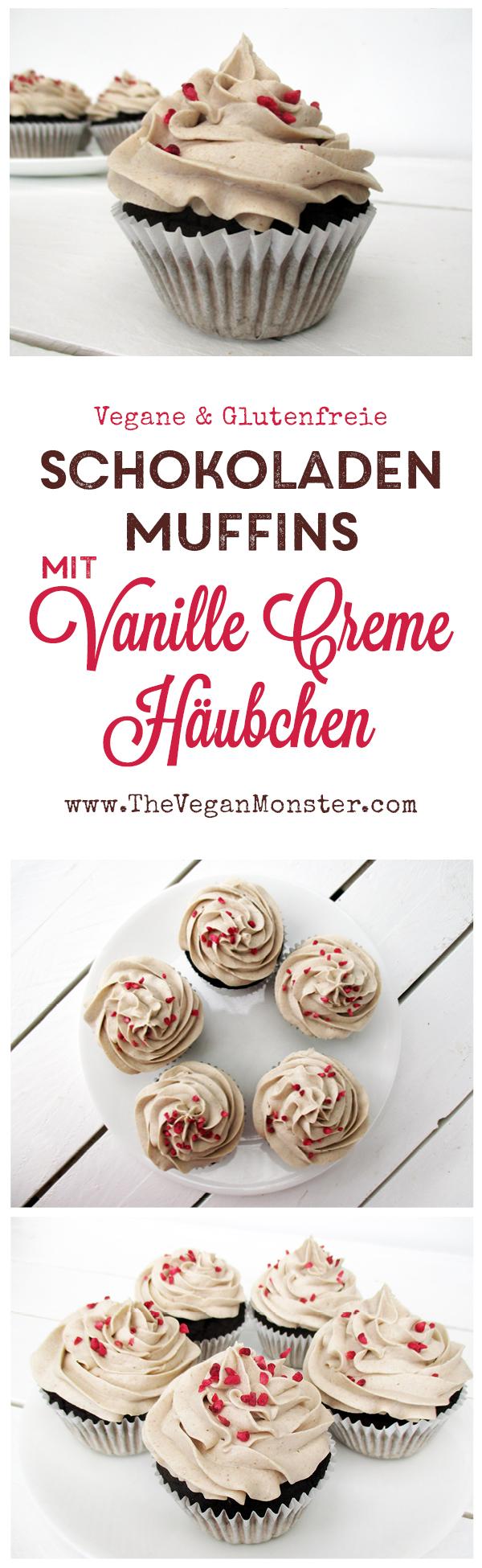 nuss milch mehl schokoladen muffins mit vanille creme h ubchen vegan glutenfrei ohne. Black Bedroom Furniture Sets. Home Design Ideas