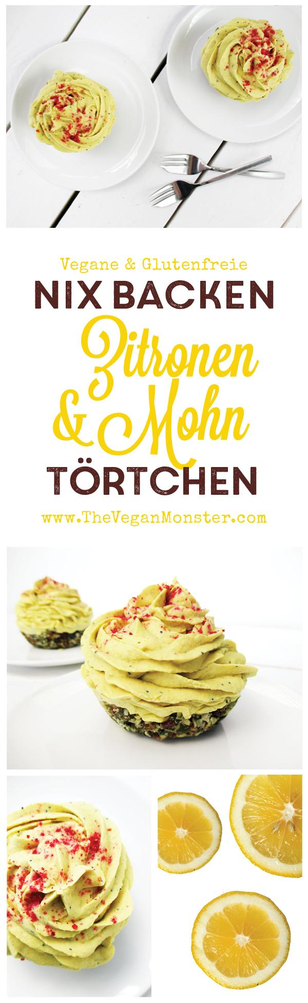 Nix Backen Vegane Glutenfreie Milchfreie Zitronen Mohn Toertchen Rezept