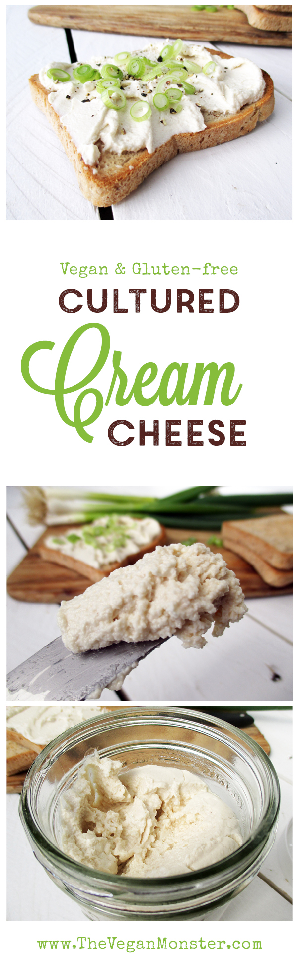Vegan Gluten-free Dairy-free Soy-free Cultured Cashew Cream Cheese Recipe Streickaese Rezept