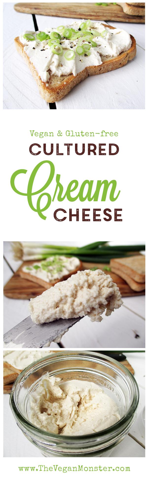 Vegan Gluten-free Dairy-free Soy-free Cultured Cashew Cream Cheese Recipe Streickaese Rezept