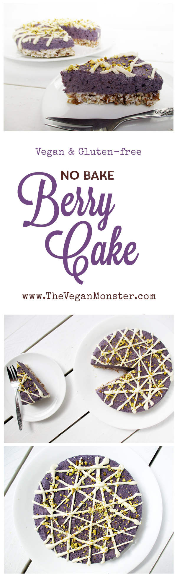 vegan gluten-free no-bake berry cake recipe without refined sugar