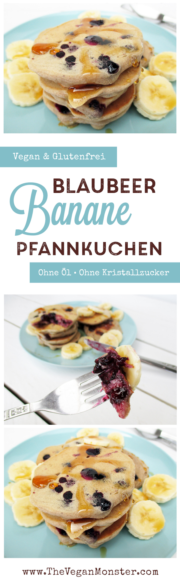 bananen blaubeer pfannkuchen vegan glutenfrei ohne zucker ohne l das vegan monster. Black Bedroom Furniture Sets. Home Design Ideas