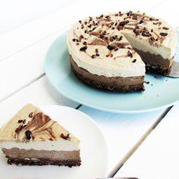 No Bake Cappuccino Cake (Vegan, Gluten-free, No Refined Sugar)