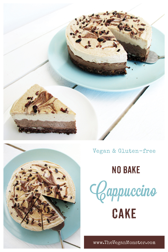 No Bake Cappuccino Cake Dairy free Egg free Refined Sugar Free Recipe P