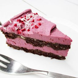 No-Bake Raspberry Chocolate Torte (Vegan, Gluten-free, No Refined Sugar)