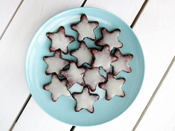 vegan gluten-free no-refined-sugar egg-free christmas cinnamon cookies recipe - Zimtsterne glutenfrei Plaetzchen Rezept