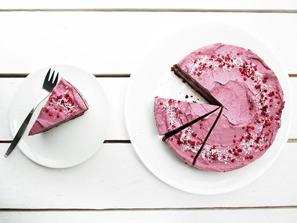 nix-backen himbeer schokoladen torte vegan glutenfrei ohne milch ohne eier rezept