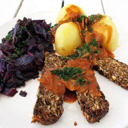 Veganer Pilz Braten (Vegan, Glutenfrei, Ohne Nüsse)