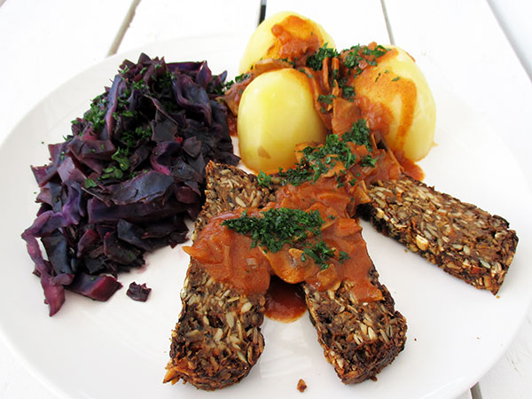 vegan gluten-free nut-free mushroom roast christmas dinner recipe rezept