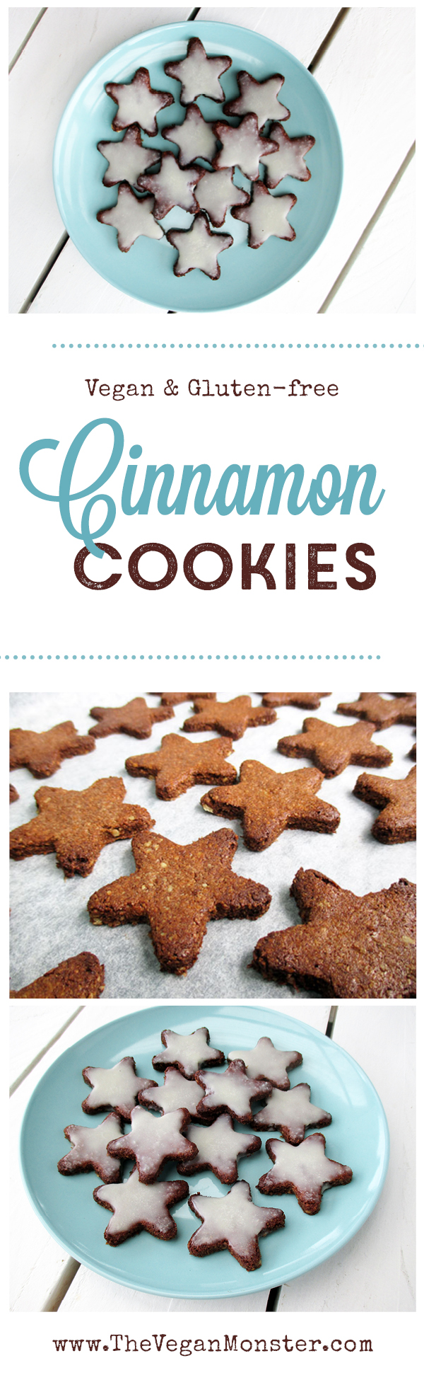 vegan gluten-free no-refined-sugar egg-free christmas cinnamon cookies recipe