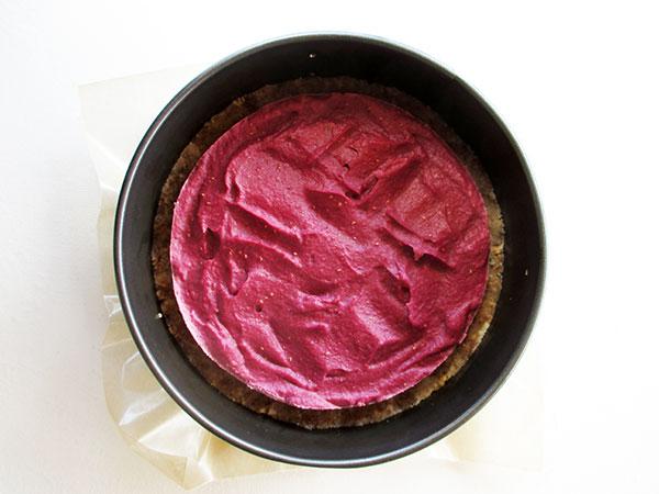 No-Bake Vegan Gluten-free Dairy-free Refined Sugar Free Raspberry Vanilla Cake Torte Recipe