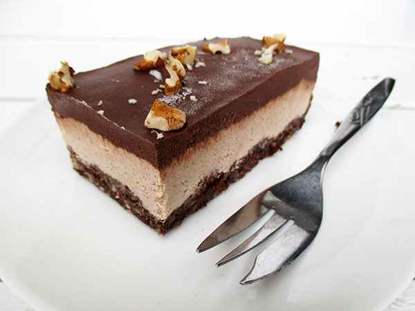 Nix-Backen Vegane Glutenfreie Rohkost Walnuss Schokolade Schnitten Ohne Zucker Ohne Cashews Rezept