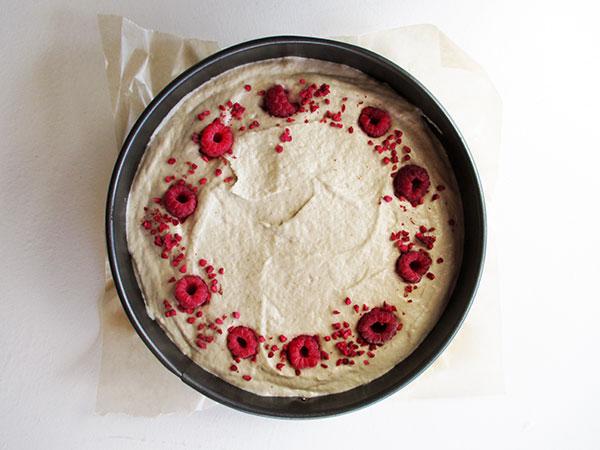Nix-Backen Vegane Glutenfreie Vanille Himbeer Torte Rezept
