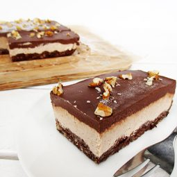 No-Bake Walnut Chocolate Slices (Vegan, Gluten-free, No Refined Sugar, No Cashews)