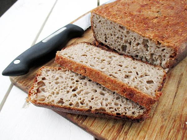 Vegan Gluten-free Yeast-free Bread Recipe - Veganes Glutenfreies Brot Ohne Hefe Rezept