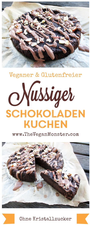Veganer Glutenfreier Nussiger Schokoladen Kuchen Ohne Kristallzucker Rezept