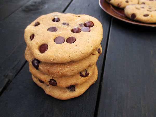 Vegan Gluten-free Refined-Sugar-Free Chocolate Chip Cookies Recipe - Glutenfreie Vanille Schoko Cookies Rezept