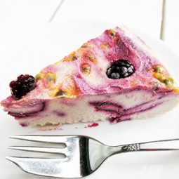 Passion Berry Ice-Cream Cake (Vegan, Gluten-free, No Refined Sugar)