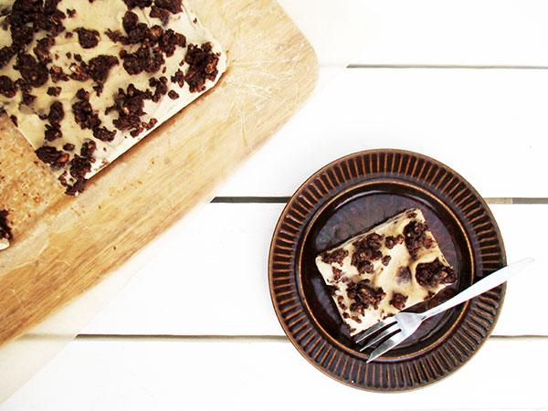 No-Bake Raw Vegan Gluten-free Bo-Refined-Sugar Cookies Cream Slice Cake Recipe