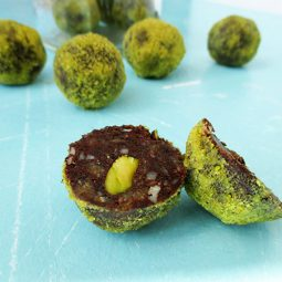 Macadamia Pistachio Chocolate Truffles (Vegan, Gluten-free, No Refined Sugar)