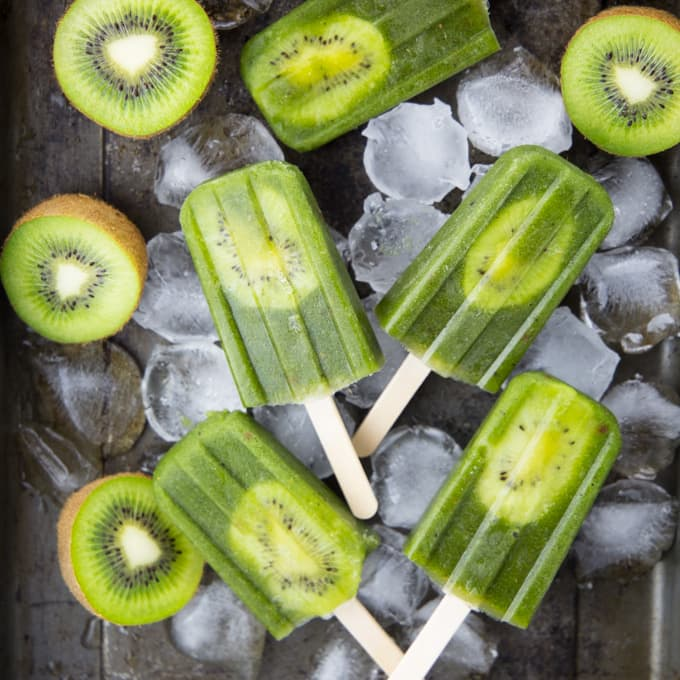 Healthy Popsicles with Kiwi Pineapple by Vegan Heaven