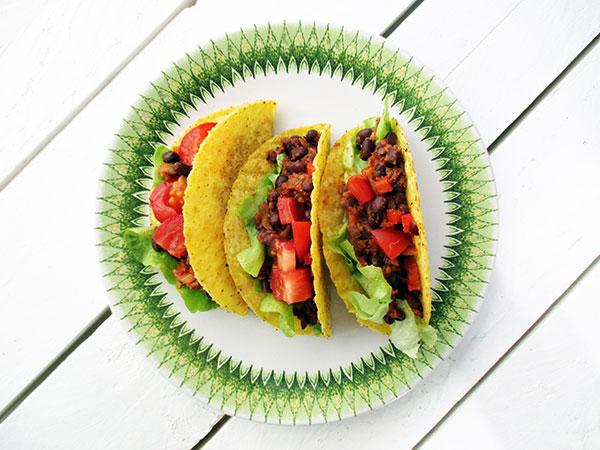 Vegan Gluten-free Bean Taco Filling Recipe - Vegane Glutenfreie Fruchtig Scharfe Bohnen Taco Fuellung Rezept