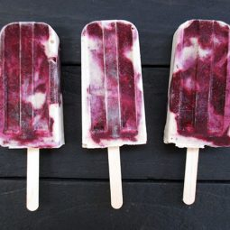 Creamy Vanilla Berry Ice-Pops (Vegan, Gluten-free, No Refined Sugar)
