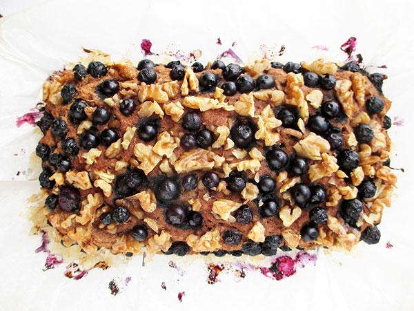 Vegane Glutenfreies Bananen Walnuss Blaubeer Brot Ohne Kristallzucker Rezept