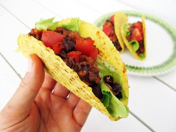 Vegan Gluten-free Fruity Spicy Bean Taco Filling Recipe