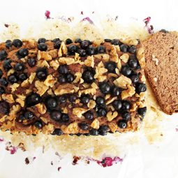 Banana Blueberry Walnut Loaf (vegan, Gluten-free, No Refined Sugar)