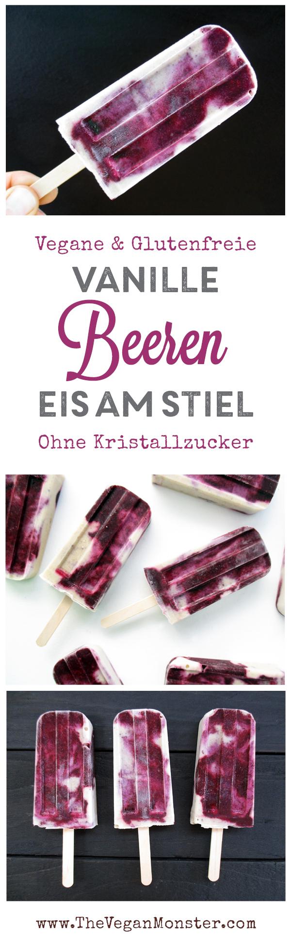 Cremige Vegane Glutenfreie Beeren Vanille Eis Am Stiel Ohne Kristallzucker Rezept