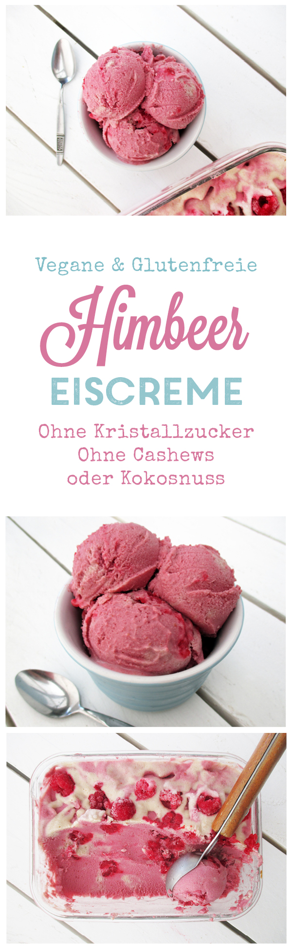 Vegane Glutenfreie Himbeer Eis Creme Ohne Milch Ohne Zucker Rezept