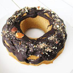 Polenta Bundt Cake (Vegan, Gluten-free, No Dates)