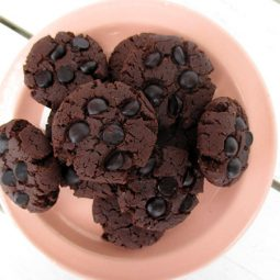 Triple Chocolate Cookies (Vegan, Gluten-free)