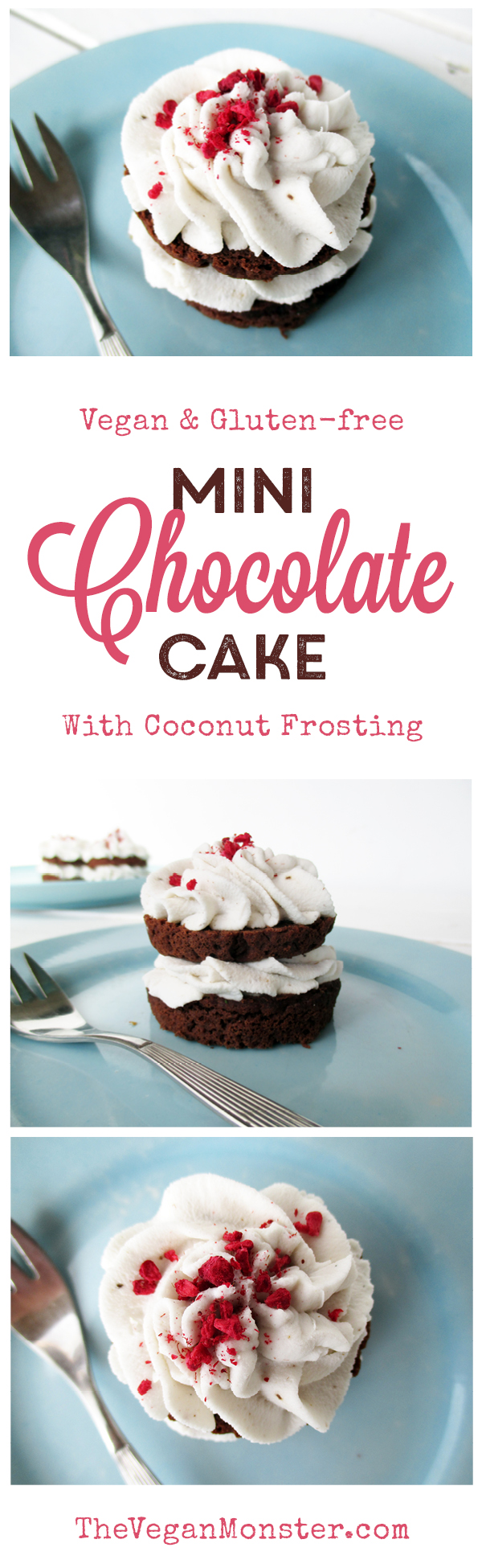 Vegan Gluten-free Mini Chocolate Cakes And Coconut Frosting Without Refined Sugar Recipe