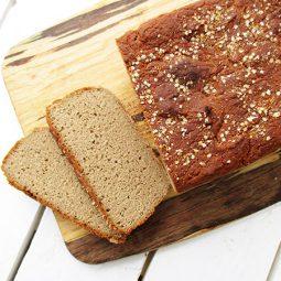 Easy Buckwheat Bread (Vegan, Gluten-free)